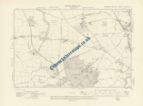 1900s Doncaster Map 1907