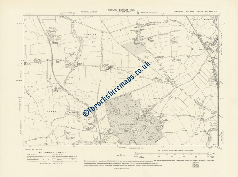 1900s Doncaster Map 1907 to buy from
