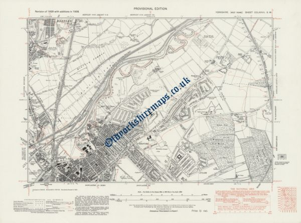 1930s Doncaster Map 1938