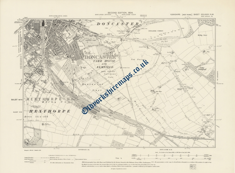 Antique Doncaster Map 1904 to purchase from
