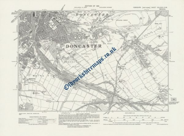 Buy old Doncaster Map 1931