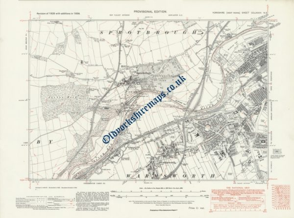 Historical Map of Doncaster 1938