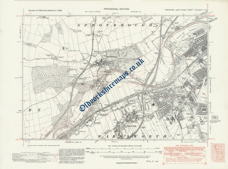 Historical Map of Doncaster 1938 to buy from
