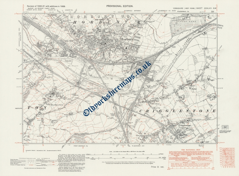 Map Of Uk 1900.Map Of Historical Wakefield 1938