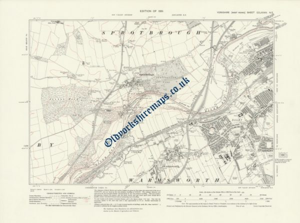 Map of Old Doncaster 1931