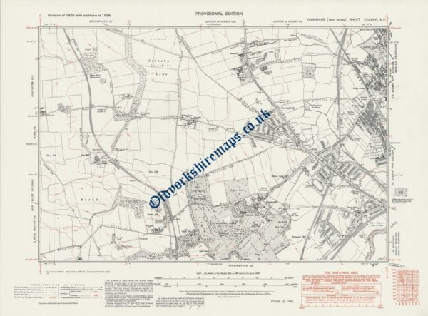 Old Doncaster Map 1938