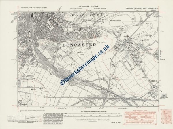 Old Doncaster street Map 1938