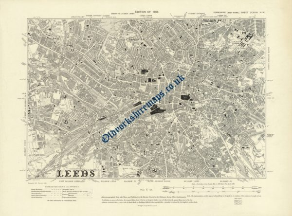 Old Leeds Map 1909