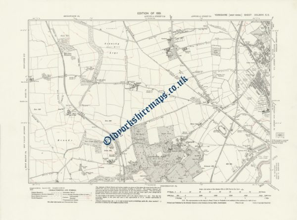 Old Map of Doncaster 1931