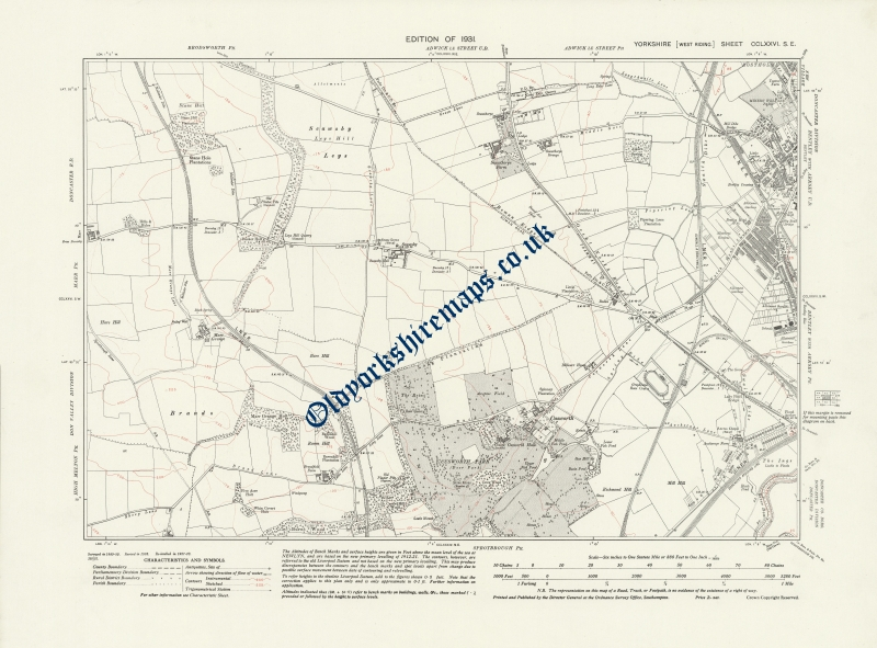 Old Map of Doncaster 1931 to buy from