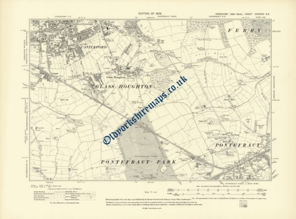 Old Pontefract map 1908