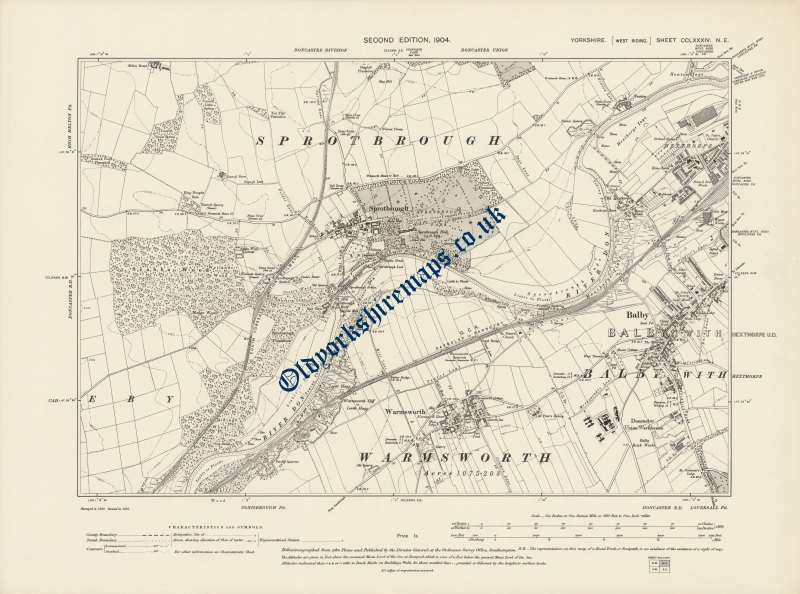 Vintage Map of Doncaster 1904 to buy from