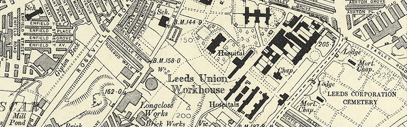 Old Yorkshire Maps Leeds sample
