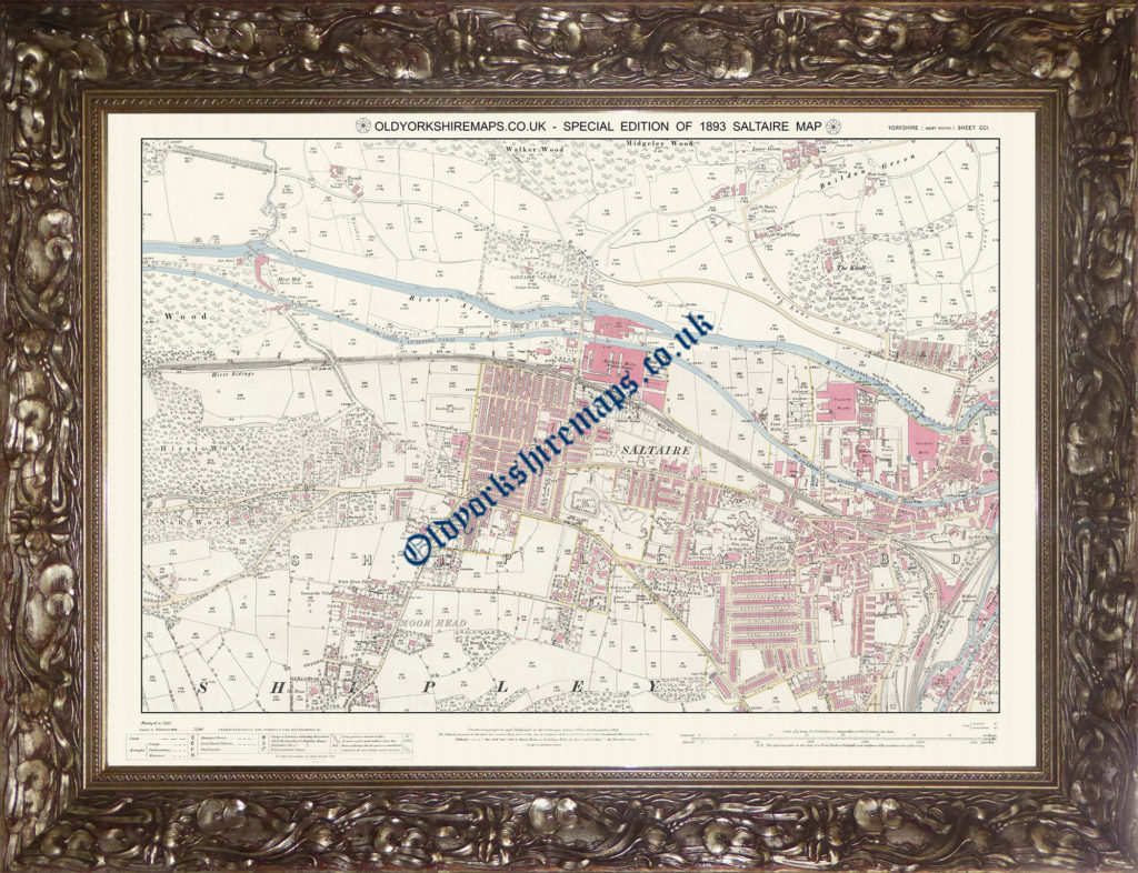 1893 Saltaire Special Edition Map