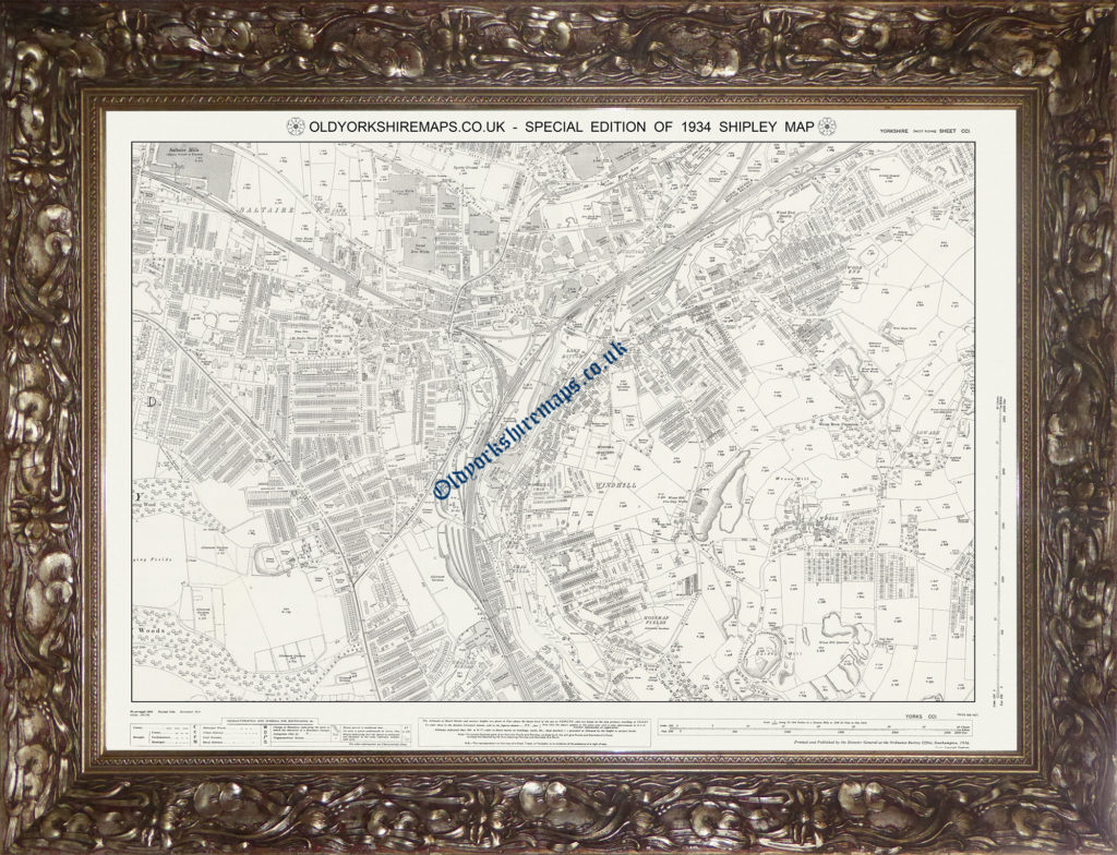 Old Shipley Map 1934 Special Edition